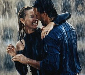 парень и девушка дождь