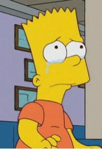 Барт Симпсон не может избавиться от грусти