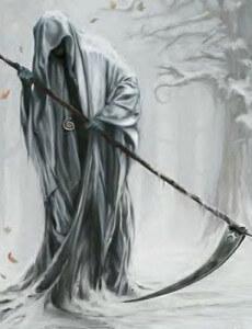смерть с косой внушает страх