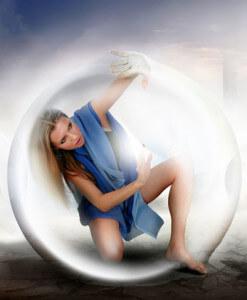Мысленный пузырь вокруг себя для защиты от вампира