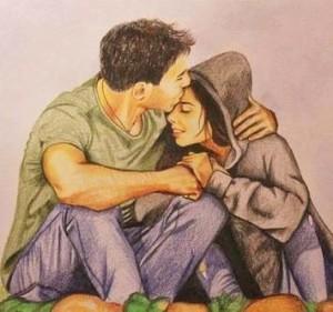 парень с девушкой очень сильно любят друг друга