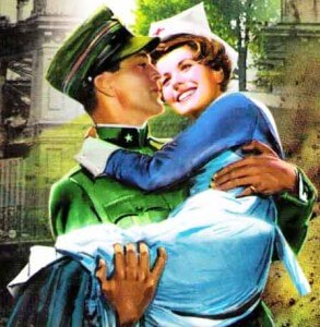 солдат собирается сказать медсестре о том, что она ему нравится