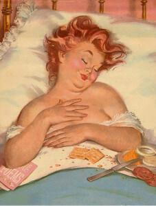 толстушка Хильда не уходит из постели и ждет мужчину