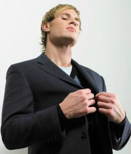 эгоистичный мужчина в пиджаке