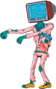 Навязчивое зомбирование людей через телевизор создает страхи