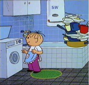 Болик и Лёлик решили избавиться от мусора и сделать домашнюю уборку
