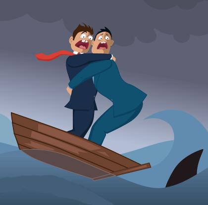 лечение панических атак во время плавания на лодке осуществляется путем доказательства абсурдности страха на листочке бумаги