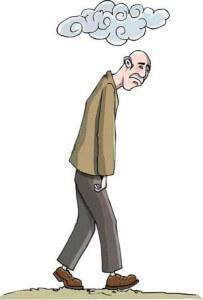 Cartoon-man-sunk-in-depresion