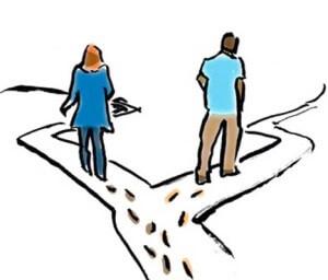 при расставании с любимым человеком ваши пути расходятся